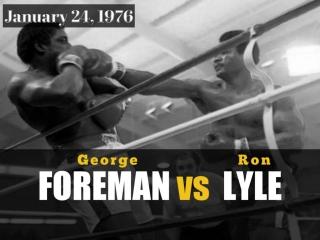 Джордж Форман vs Рон Лайл (George Foreman vs Ron Lyle) 24.01.1976