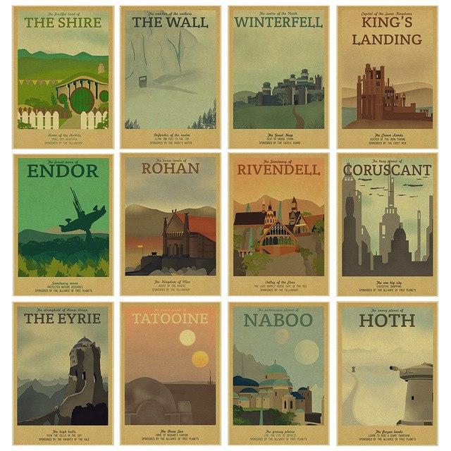 Крутые плакаты по Игре престолов и Звездным войнам 161 - 218