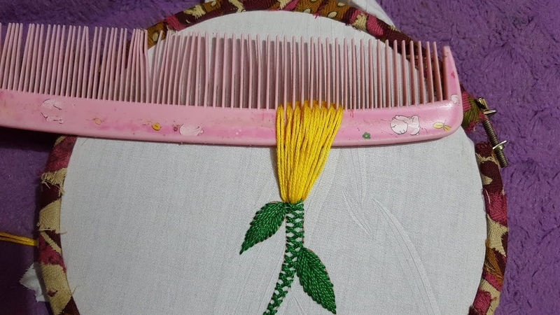 Hand Embroidery New Trick Flower Embroidery Design for hand work stitch