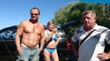 Вымогательство денег на пляже Черного Моря