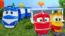 Видео с игрушками. Приключения роботов-поездов. Все серии.