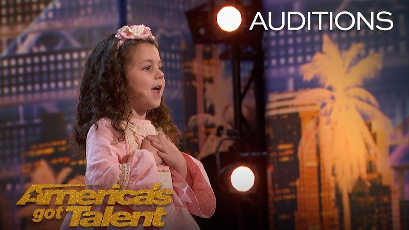 Sophie Fatu Adorable 5-Year-Old Sings Throwback Tune - Americas Got Talent 2018