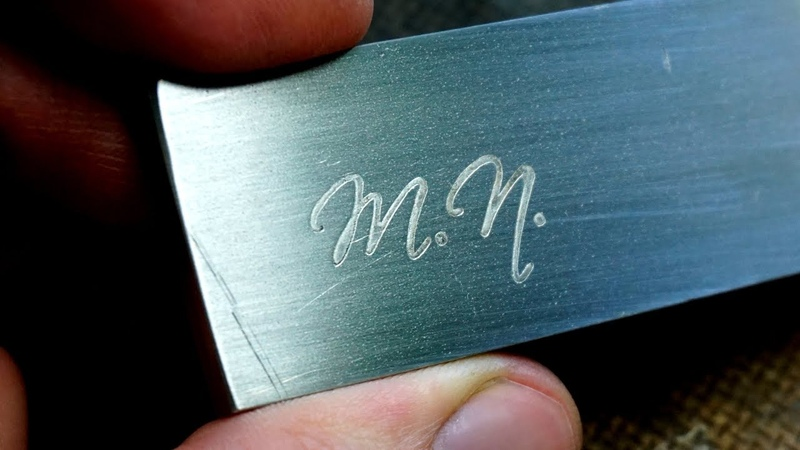 How to easily Etch the Logo in Steel using salt and batteries A short Tutorial