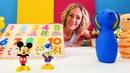 Sayıları öğrenelim Çizgi film oyuncakları ile yapboz oyunu