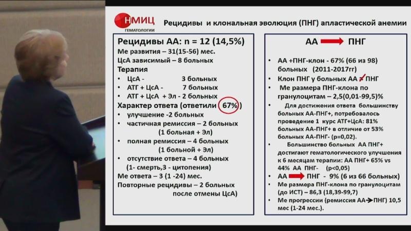 Михайлова Е А Опыт лечения тяжелой апластической анемии Программа ДЗМ и НМИЦ гематологии по диагностике и терапии апластических анемий
