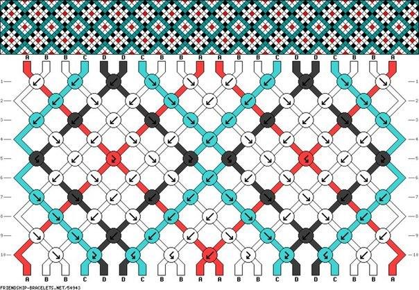 Схема косого плетения выглядит так.  То есть со стрелочками и вертикальными рядами.  Схем насчитывается более 50000...