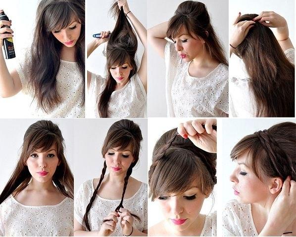 Картинки прически на средние волосы простые