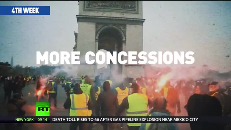 1000s of police on guard as Yellow Vests hit streets in France for 10th week in a row RT World News