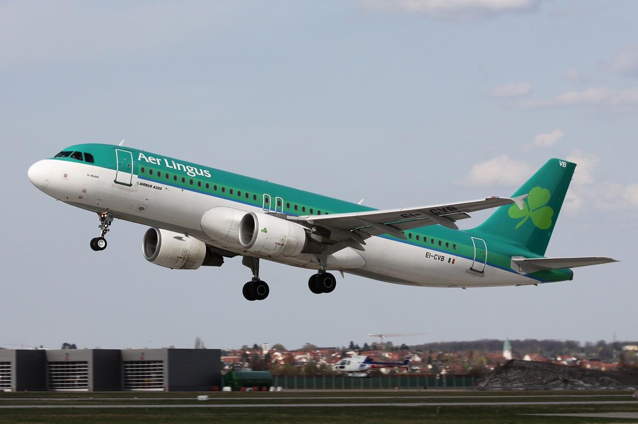 Взлет Аэробуса ирландской компании