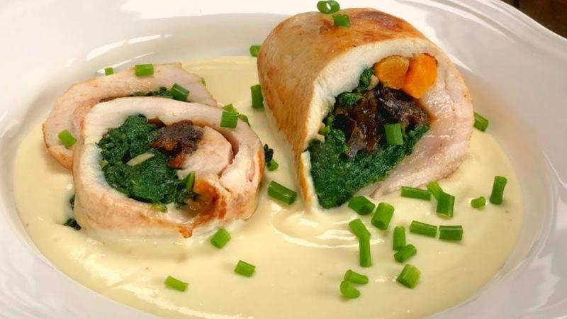 Pechuga de pollo rellena tu receta de navidad facil rica y BARATA