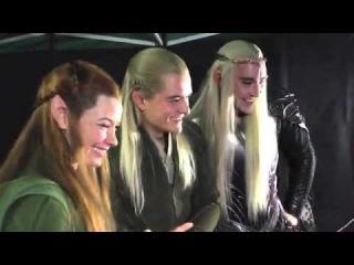 Актеры смотрят на реакцию фанатов, которые впервые увидели трейлер «Хоббит  Пустошь Смауга»