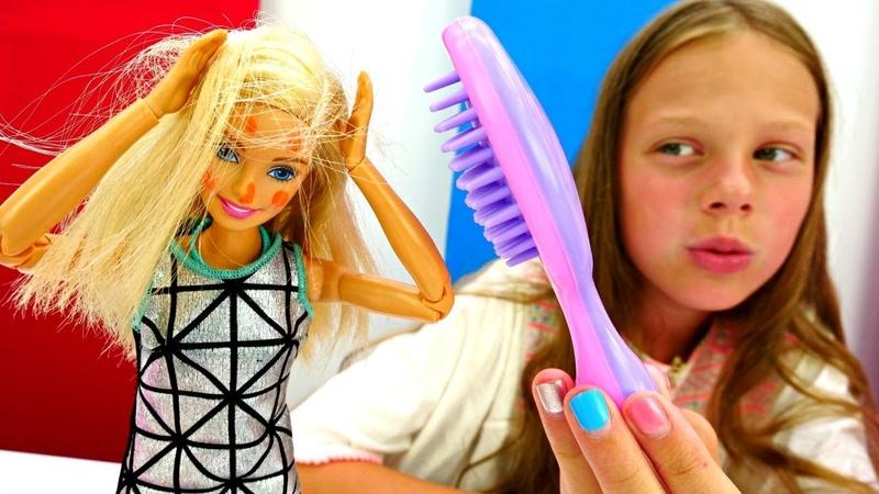 Мультики для девочек Барби и комары. Играем в куклы Barbie
