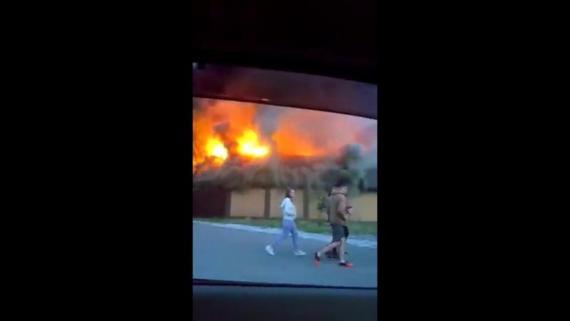 Пожар на улице Верхнеднепровская.