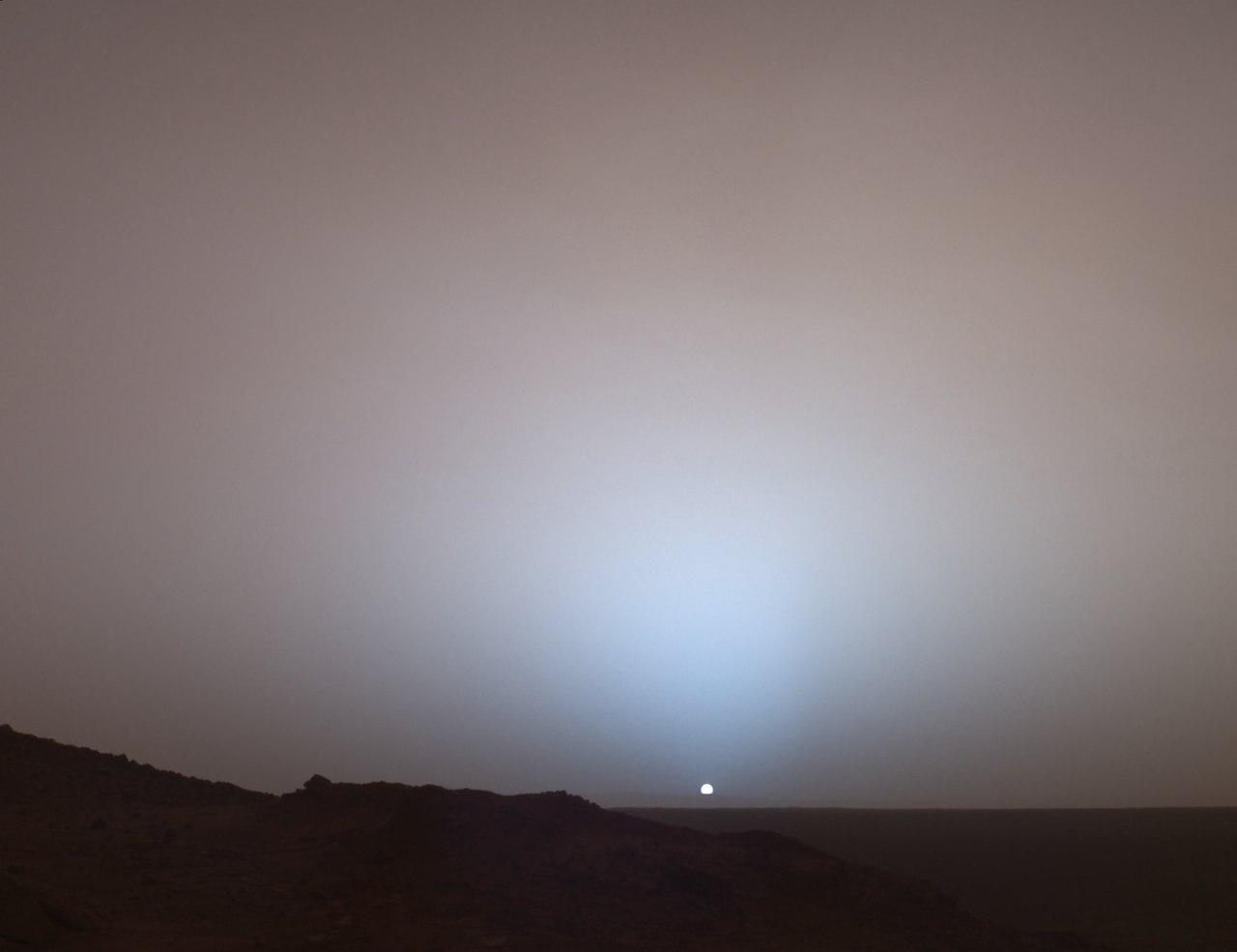 Захід сонця на Марсі