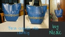 Borsa fai da te in ecopelle stile country - Leather bag tutorial