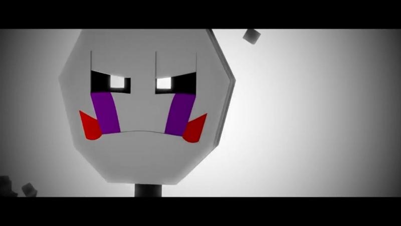 ПЕСНЯ МАРИОНЕТКИ - Майнкрафт ФНАФ Клип Не забуду (На Русском)— копия