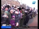 В Усть-Лабинском районе олимпийский огонь встретили караваем и казачьими песнями http://9tv.ru/news/item/45548