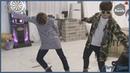 [Русская озвучка by Cara Linne]Время танцев с Чимином и Ви   Free dance time with JIMIN V - BTS