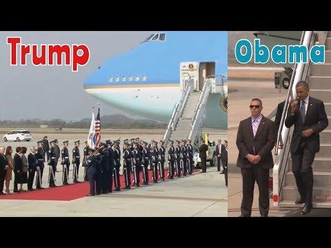 President Trump VS President Obama Visiting South Korea Huge Difference