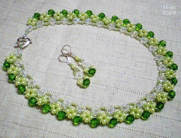 Изумрудно — нежное ожерелье Мая . (2 фото) - картинка