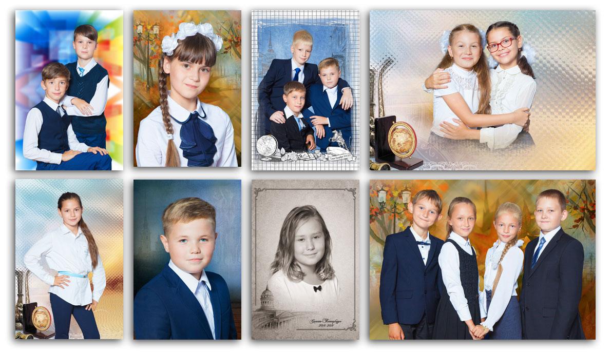 Фотосессия в4-х классах гимназии №343Невского района Санкт-Петербурга . Портретная исюжетная фотосъёмка