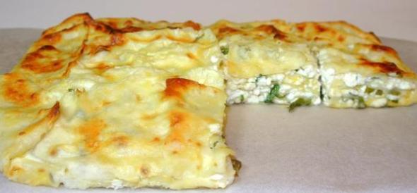 Рецепт пирога с творогом и зеленью в духовке