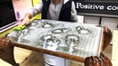 Casting Aluminum and Epoxy Oak Table Aluminum Faces Заливка алюминия и эпоксидки Стол из дуба
