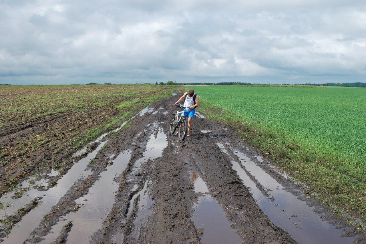 Что делать если колеса забились грязью?