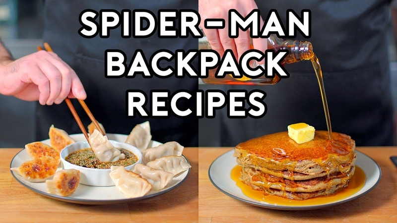 Binging with Babish Backpack Recipes from Marvel's Spider Man