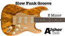 Slow Funk Groove Guitar Jam Track in E minor