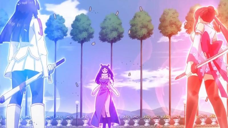 Эльза против Кагуры и Минервы. [Fairy Tail]