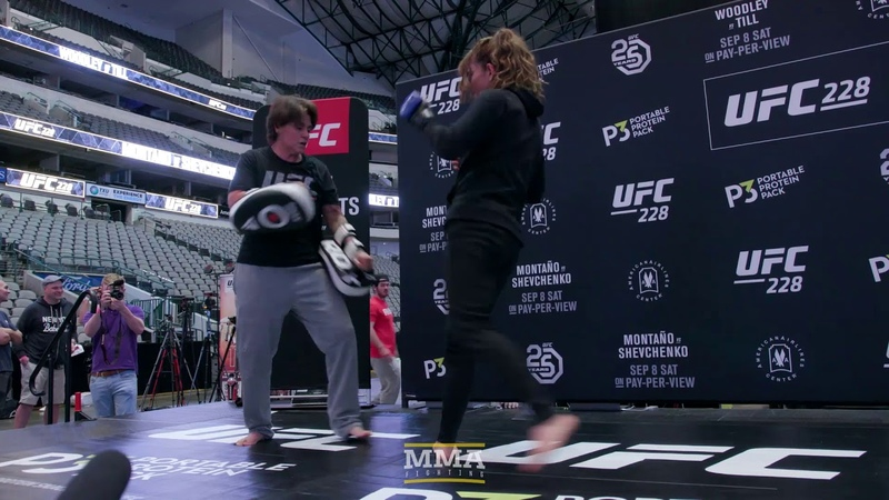 UFC 228 Nicco Montano Open Workout Highlights - MMA Fighting ufc 228 nicco montano open workout highlights - mma fighting