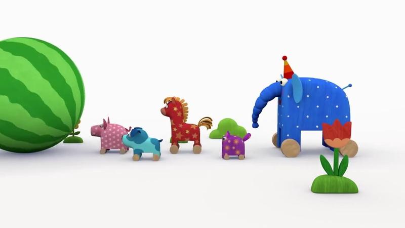 Деревяшки Арбуз Серия 5 Новые развивающие мультфильмы для самых маленьких