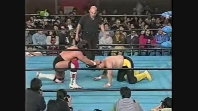 1996.11.22 - Akira TaueToshiaki Kawada vs. Johnny AceSteve Williams