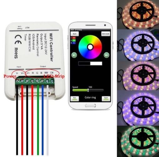 Контроллер для светодиодных лент управляемый со смартфона через Wi-Fi
