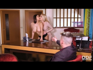 Amber Jayne And Cristina Miller - HаndsOnHаrdсоre [All Sex, Hardcore, Blowjob, Gonzo]
