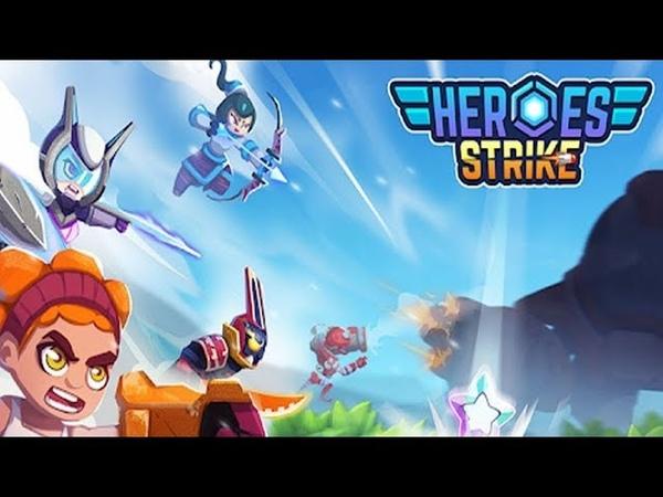 Heroes Strike 3v3 Moba Brawl Shooting android game first look gameplay español