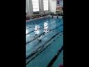 Карина на первых соревнованиях по плаванию! 19 мая 2018!
