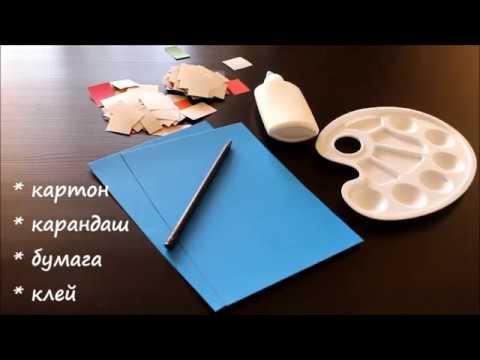 Аппликация Звезда. Поделки из бумаги и картона