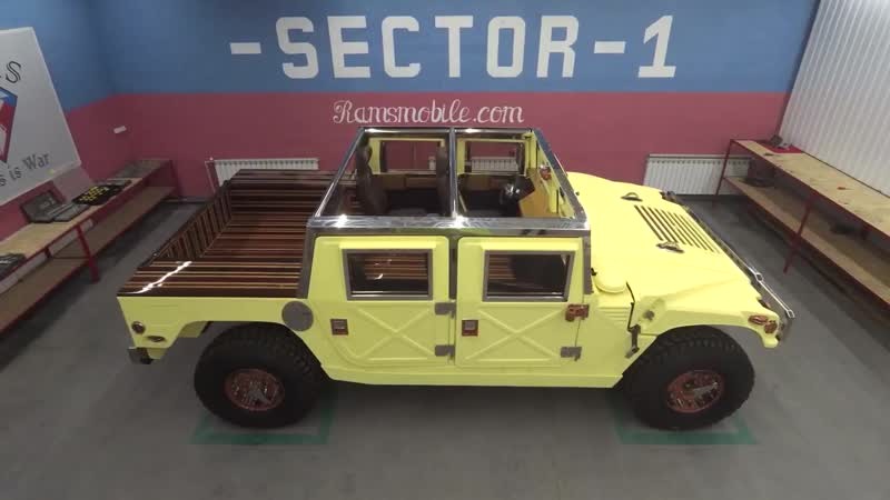 Production Hummer H1 ! Review Hummer H1! Ramsmobile Art-series Komanche edition.