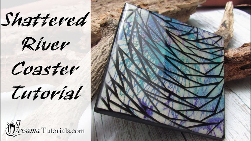 Polymer Clay Project: Shattered River Coaster Tutorial