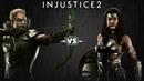 Injustice 2 Зелёная Стрела против Чудо Женщины Intros Clashes rus