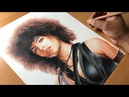 Drawing Domino Zazie Beetz - Deadpool 2 - Timelapse Artology