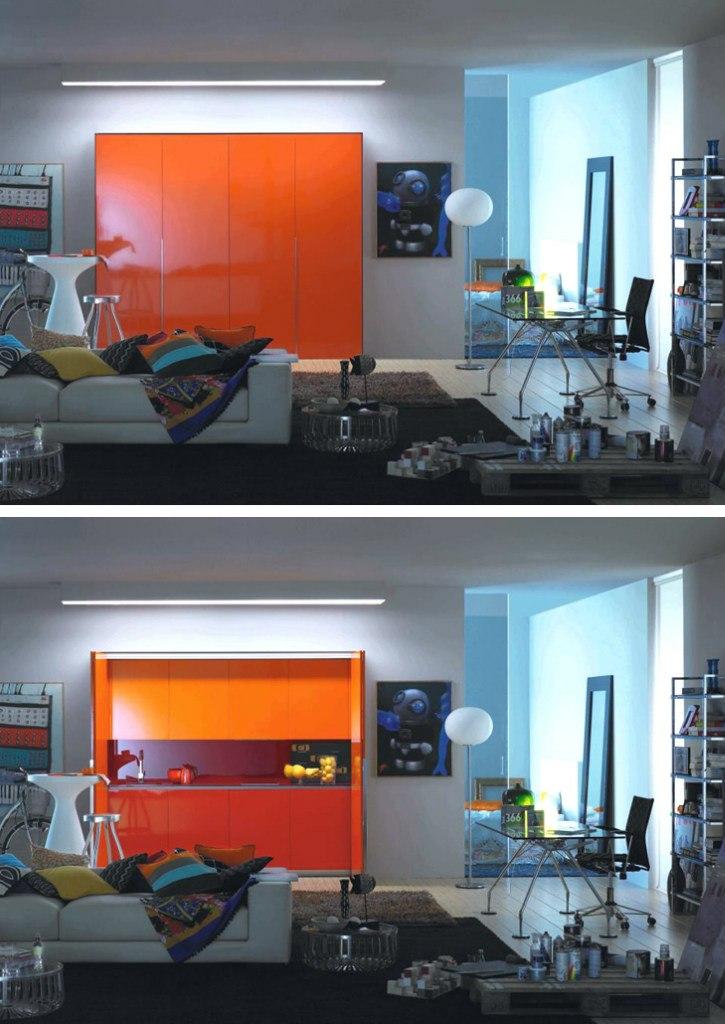Закрытая кухня от Logos - http://kvartirastudio.