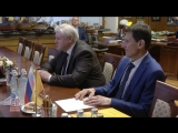 Лидер СПРАВЕДЛИВОЙ РОССИИ Сергей Миронов принял в Госдуме посла Болгарии Бойко Коцева