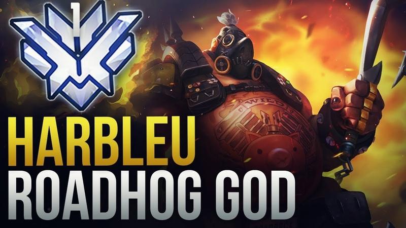 Best of Harbleu - RANK 1 ROADHOG GOD - Overwatch Montage