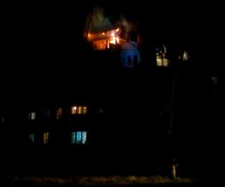 Пожар в Усть-Илимске 29.10.2018