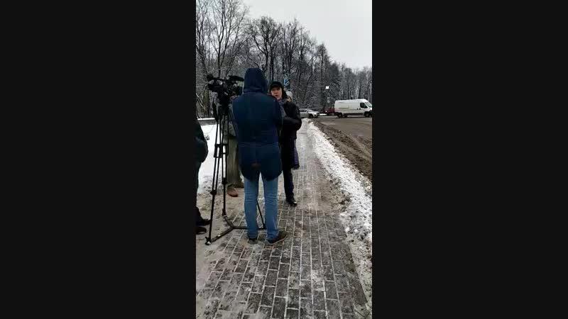 Леша дает интервью 47 каналу по реставрации Обелиска Коннетабль