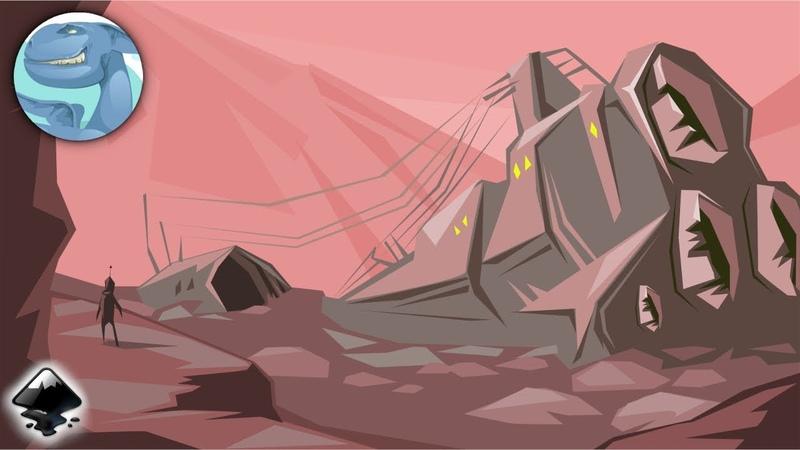 A broken spaceship. Inkscape quick sketch.