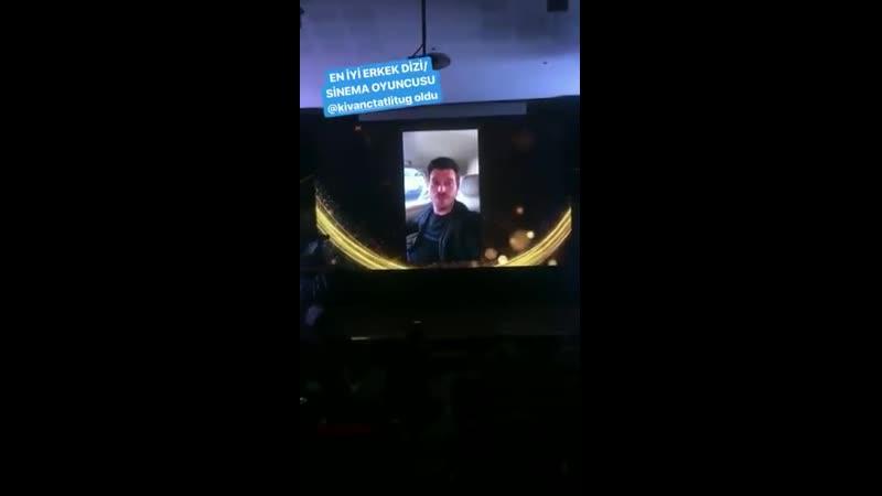 Kivanc Won the Best Actor Award from Galatasaray